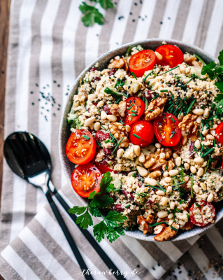 easy summer couscous salad therawberry 4
