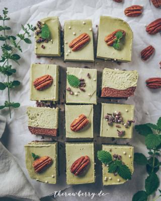 raw vegan matcha bars